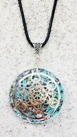 necklace Orgonite metatron cube  pendant, Turquoise, energy protection