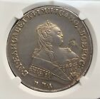 RUSSIA EMPIRE SILVER ROUBLE 1749 SPB MMD Elizabeth Russian Imperial Rouble NGC