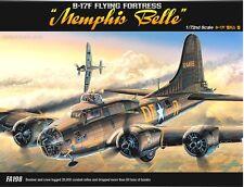 Academy Plastic Model Kit 1/72 B-17F FLYING FORTRESS MEMPHIS BELLE 12495 NIB