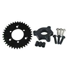Black CNC 36T Sprocket With Adapter Fit 415 chain 80cc Motorized Bicycle