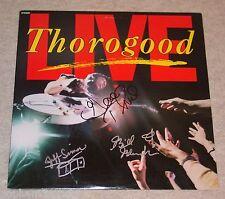 GEORGE THOROGOOD & THE DESTROYERS Signed/Autographed LIVE Vinyl Album LP JSA COA