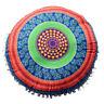 Mandala de India cojines Redondo Bohemio hogar Cojín cojines Funda Cojines