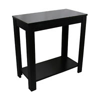 """ORE International 24"""" Tall Wooden End Table With Black Finish 7710BK"""