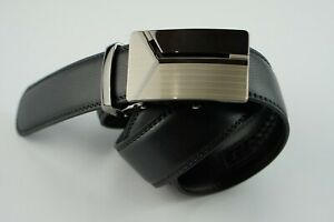 AUTOMATIC DR METAL BUCKLE BLACK LEATHER BELT DEAN ROBIN   OVERSTOCK 80% OFF