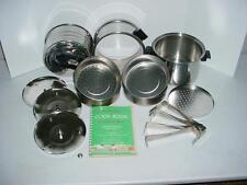 Vtg Adolphus Tenderizer Steamer Pot & Signed Cook Book Quack Medical MUST READ !
