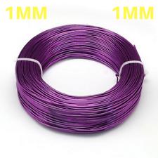 1 mm aluminium Craft Fleuriste Fil Fabrication de Bijoux Violet Foncé Violet 10 m longueurs