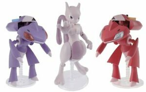 Pokemon Plamo Collection 31 + 32 RED GENESECT&GENESECT&MEWTWO Model Kit BANDAI