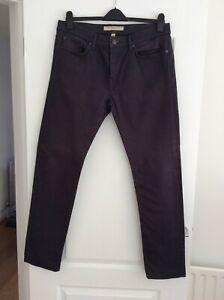 MENS GENUINE BURBERRY BRIT JEANS - 36W/32L — Slim fit - dark grey