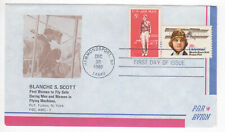 SSS: Fulton Stamp Co  Aerogramme FDC 1980 28c Blanche Stuart Scott  Sc #C99, C68