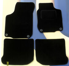 AUDI TT MK2 4 SEAT COUPE (8J3 MODEL) BLACK TAILORED FLOOR MATS WITH 4 CLIPS