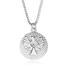 Silver Coloured Guardian Angel Pendant Necklace in velvet gift bag UK Seller