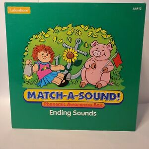 Lakeshore Match-A-Sound Phonemic Awareness Box Ending Sounds (Complete)