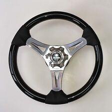 New OEM Gussi M65 Boat Steering Wheel Polish Aluminum Spk Black Inserts