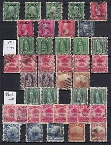 US Possession caribbean lot of 41 stamps 1899 1905  island
