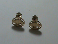 Hand Cut Buffalo Nickel made as Clip on Earrings 24 kt Gold Plated
