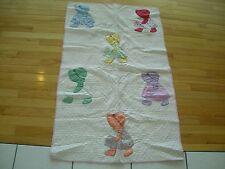 New listing True Vintage Small Hand Stitched Cradle Baby Quilt Sun Bonnet Sue Applique (aHb