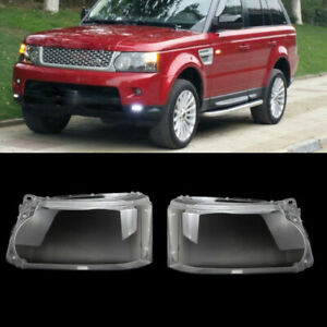 Pair Headlight Lens Cover Lampshade For Land Rover Range Rover Sport 2010-2013