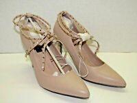 Betseyville By Betsey Johnson Studded Strappy Stiletto Heels Blush NEW Size 7.5
