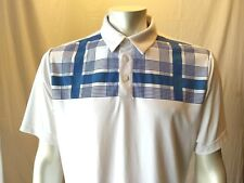 Adidas Clima Cool Men's White Short Sleeve Polyester Golf Polo Shirt Size Large