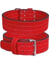 Leather Weight Lifting Belt Nubuck Power Belt Back Support Gym Training Unisex