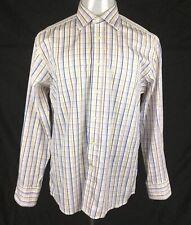 DUCHAMP London Mens Shirt Sz 16.5 (42cm)  Long Sleeves Button Down Multicolored
