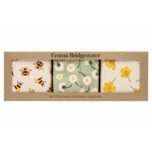 Emma Bridgewater Buttercup Set of Three Square Storage Caddies