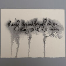 More details for mm067 dylan thomas inspired calligraphy mystery masterpieces postcard 15x10.5cm