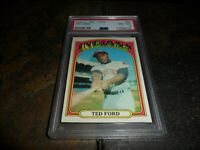 1972 O-Pee-Chee #24 TED FORD CLEVELAND INDIANS NM MINT PSA 8