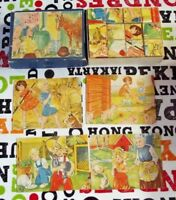 Ancienne boîte de cube maternelle jeu éducatif par l'image Suède la Ferme