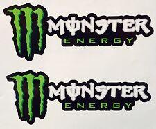 "2X Monster Energy Sticker Decal Sponsor 9.5"" AUTO MOTOR SPORTS SUPERCROSS MX JDM"