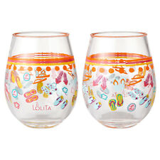 Lolita Love My Party Stemless Acrylic Wine Cup S/2 FLIP FLOPS TOO 17oz. ~NEW~