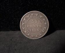1900 New Foundland Silver 50 cents - ENN COINS
