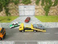 MAN Pannenfahrzeug mit BMW 320 Modellbau Panne Diorama H0 1:87 #60