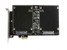 "NEW PCIe Dual Slot SSD Adapter 700MB/s RAID0 2.5"" SATA III Karte Apple Mac Pro"