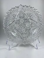 VINTAGE HEAVY CRYSTAL CLEAR GLASS DIAMOND STAR  CIGARETTE ASHTRAY