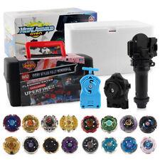 8x Galaxy Fusion Beyblade Metal Masters Set mit Launcher Aufbewahrungskiste Box