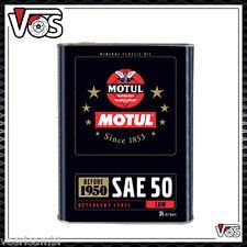 Motul SAE50 2 LITRI Olio Motore Monogrado Auto d'epoca DAL 1900 AL 1950 Benzina