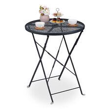 Balkontisch klappbar Metall Gartentisch rund Klapptisch Metalltisch Schirmloch