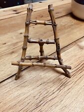 Vintage Handmade Easel Display Picture Holder Bamboo Wooden Home Decor 8� X 7�