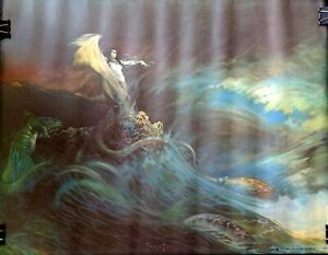 FRANK FRAZETTA 1979 Sea Witch Mermaid Fantasy Poster WOLFMOTHER Unused NOS