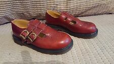 RARE vintage Dr. MARTENS size 4 ENGLAND cherry MARY jane T Bar  buckle 8065