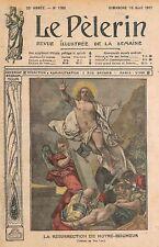 RESURRECTION DU CHRIST / FETE DE PAQUES TABLEAU VAN LOO ILLUSTRATION 1911