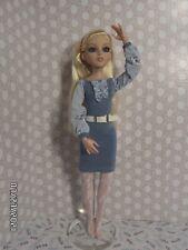 OOAK Blue Slip-on Belted Dress for Tonner Ellowyne Wilde Doll & Cami/Tyler - NEW