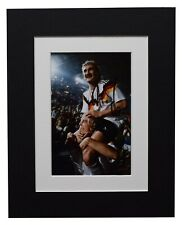 Rudi Voller Signed Autograph 10x8 photo display Germany Football AFTAL COA