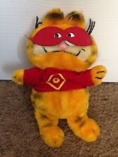 Vintage Garfield Super Hero Cat Costume  Plush Doll Figure Halloween