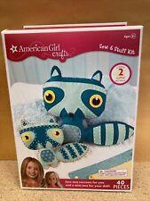 American Girl Crafts Sew & Stuff Kit 2 Raccoons New