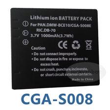 Battery for Panasonic CGA-S008E RICOH DB-70 DMW-BCE10E DMC-FX30 FX33 FX35 FX36
