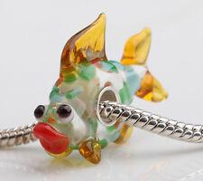 1pcs MURANO GLASS BEAD LAMPWORK Fit European Charm Bracelet DWO259 lovely Animal