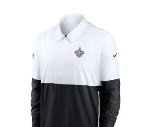 Nike Dri Fit NFL New Orleans Saints Men Sz.L 1/4 Zip Long Sleeve On Field Jacket