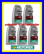 5 Litri Olio Motore 4 tempi MOTOREX Power Synt 4T 10W/50 100% Sintetico